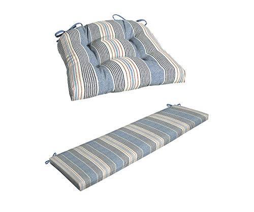 - Better Homes & Gardens Hickory Stripe |Wicker Seat Cushion| Bundle Hickory Stripe |Bench Cushion|