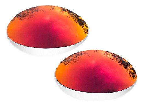 Sunglasses Restorer Polarized Ruby Red Replacement Lenses for Oakley Eye Jacket - Eye Replacement Oakley Jacket 1.0 Lenses