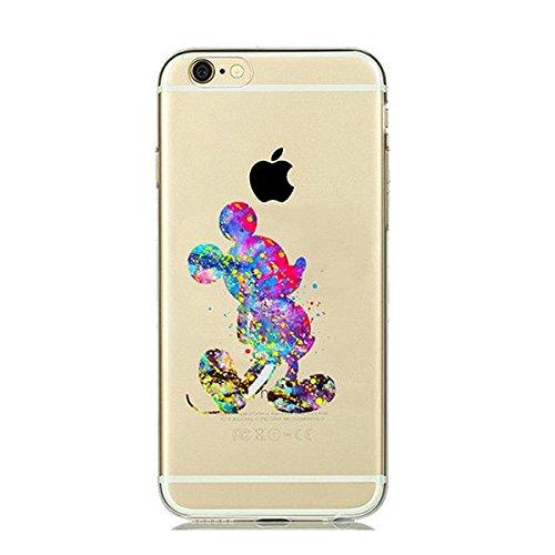 Disney Mickey Maus Schutzhülle Appel Iphone Serie TPU transparent Silikon Case Appel Iphone 7 Plus/8 Plus Comic Cartoon Hülle -AcAccessoires #0016 (Iphone 7 Plus/8 Plus)