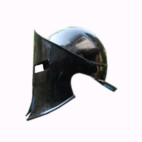 Queen Brass Knight Medievalレオニダススパルタンヘルメット300ムービーRole Play Helm標準ブラック