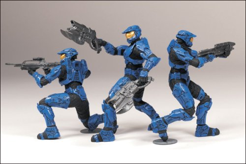 Halo 2009 Heroic Collection Blue Team Set