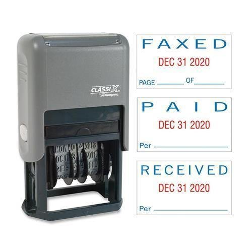 40330 Xstamper Self-Inked Stamp - PAID, FAXED, RECEIVED M...