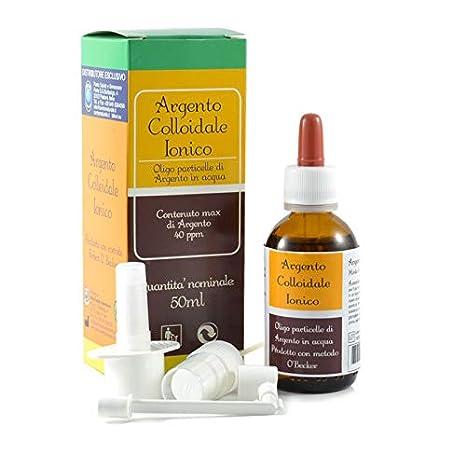argento colloidale 40 ppm  ARGENTO COLLOIDALE IONICO - 40 PPM 50 ml con erogatori:  ...