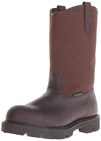 Georgia Men's Homeland Wellington-M Steel Toe Work Boot, Brown, 9.5 M US