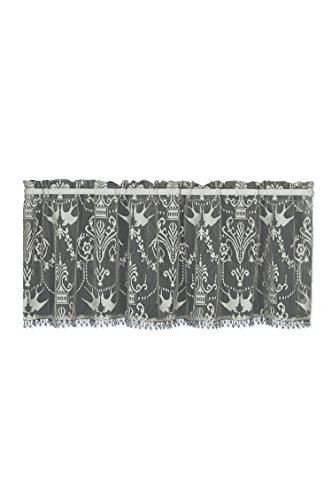 Heritage Lace Downton Abbey Duchess Valance with Trim, 58 by 18-Inch, (Beaded Valance)