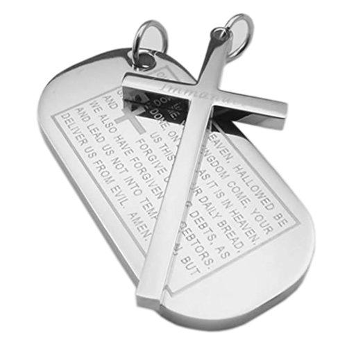 KONOV Stainless English Pendant Necklace