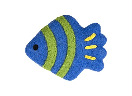 Small Angel Fish - RC Pet Products Wooly Wonkz Under The Sea Small Dog and Cat Toy, Angel Fish