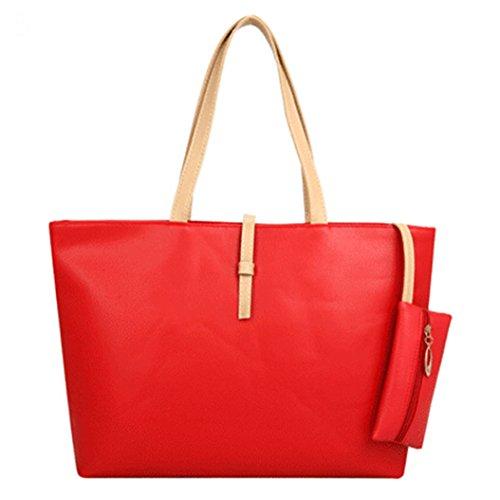 femme red Cabas femme Pengyu pour Cabas Pengyu pour Cabas red pour Pengyu w6xCTtwZq