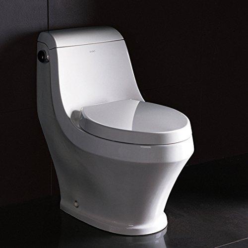 Ariel Platinum ''Apollo'' Contemporary One Piece White Toilet 28x14x26 by Ariel