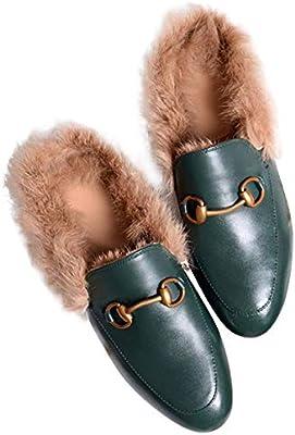 d808c04b908fd LaRosa Women's Mules Horsebit Slippers Flat Slip-on Shoes(Brown ...