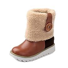 AdeeSu Womens Fashion Cone-Shape Heel Color Matching Thick Bottom Heel Imitated Leather Boots