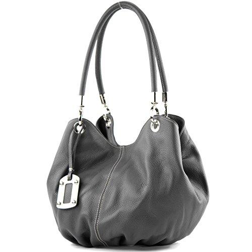 Shopper 228 Sacchetto Da Versa Borsetta Dunkelgrau Italiana Donna A Pelle x8ZYn0Yq