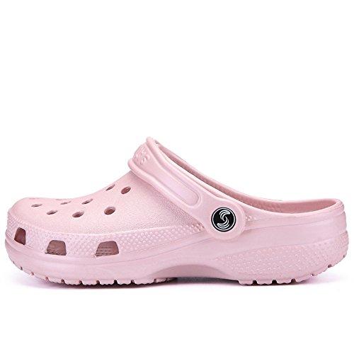 Hollow jusqu'à Mules Hollow Shoes 2018 Sandales Femmes la Hommes Mules Mens Summer sheos Taille Rose 46 Wenquan Yw0740