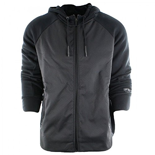 Nike Men's Air Jordan Retro TWO3 Flight Hybrid Full Zip Fleece Hoodie 853853-010 (X-Large) Black by NIKE