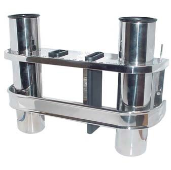 Amarine-made Stainless Double Fishing Rod Storage Holder Rack & Boat Organiser For Sale