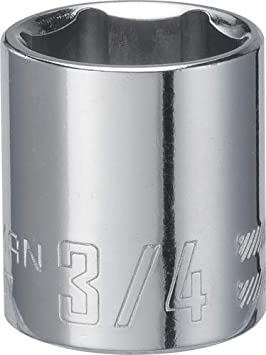 3//4-Inch SAE 6-Point 3//8-Inch Drive CRAFTSMAN Shallow Socket CMMT43007