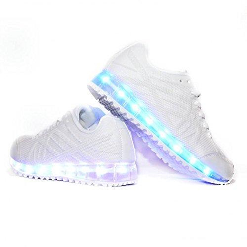 Envio 24 Horas Usay like Zapatillas LED con 7 Colores Luces Carga USB Blanco Hombre Mujer Unisex R Talla 33 hasta 41 Envio Desde España: Amazon.es: Zapatos ...