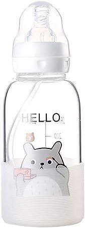 10 Botella de Vidrio para Chupete niños, borosilicato y Silicona Grado alimenticio, sin PVC, Estilo Dibujos Animados, Juego Botellas Flujo Lento, Adecuado Almacenamiento en Paquetes Viaje, onzas: Amazon.es: Hogar