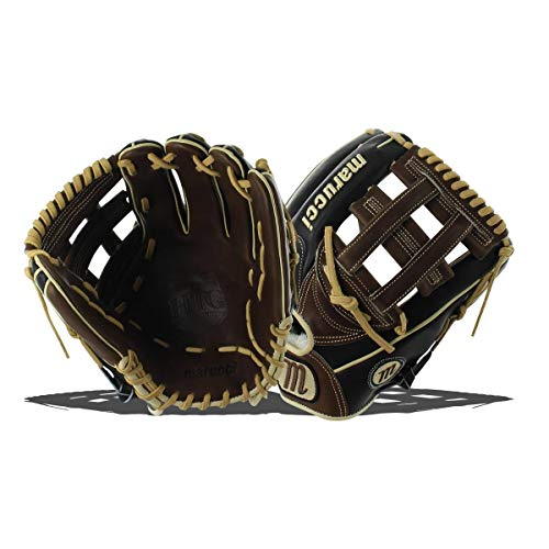 Marucci MFGHG1175H Honor The Game Series Baseball Fielding Gloves, Black/Gumbo, 11.75