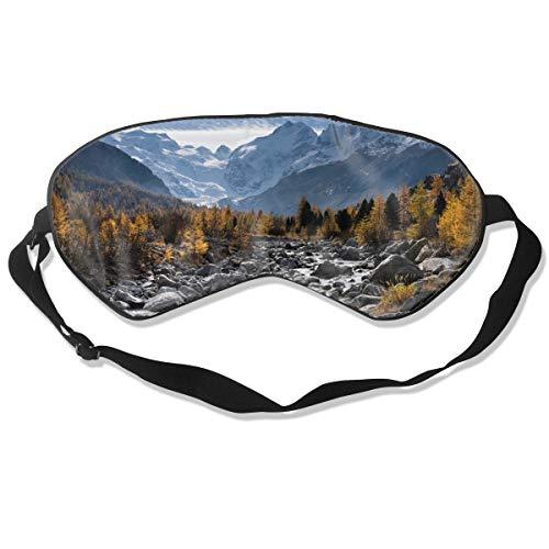 (NCNET 100% Silk Sleep Mask for Women Men,Night Blindfold,Light Blocking,Eye Shade,Sleeping Aid,Adjustable Strap for Travel Nap Shift Work,Snow Mountains)