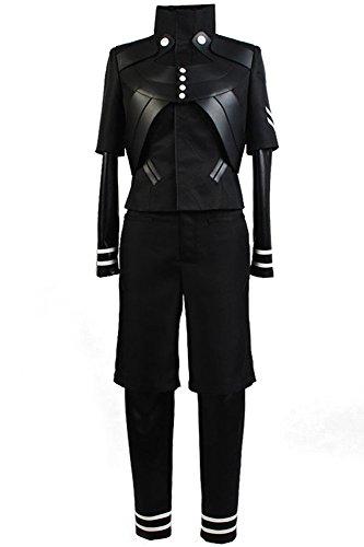 CosplaySky Tokyo Ghoul Costume Ken Kaneki Cosplay Jumpsuit Battle Black Uniform Medium - Ken Kaneki Cosplay Costume