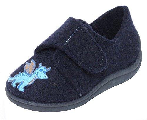 Filz Kinder Hausschuhe Gr.21-30 Klettverschluss Schuhe Puschen Pantoffeln 29