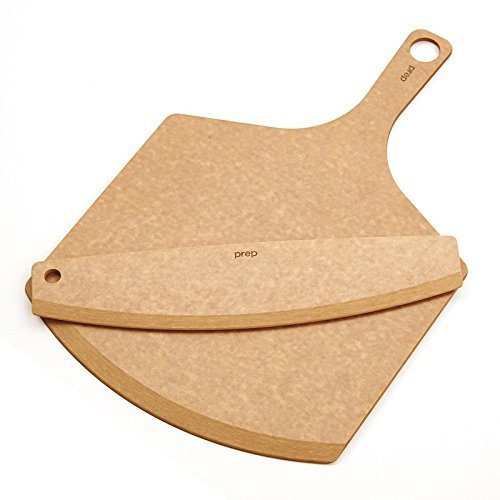 Epicurean Pizza Peel, 18-Inch by 12-Inch, with 14-Inch Pizza Cutter, Natural by Epicurean