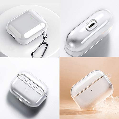 Cartoon Hercules Clear Silicone case Compatible with Apple AirPods 1 2 Pro AirPod Silicon TPU Transparent Rubber Cover with Keychain SN405 (AirPods Pro, Design 2)