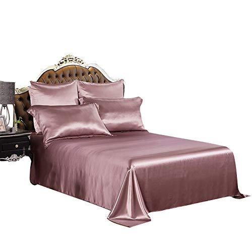 (THXSILK 19mm Silk Flat Sheet, 1 Flat Sheet ONLY, High End Collection Silk Bed Sheet, Ultra Soft Pure Mulberry Silk Bedding-, Durable- Twin Size, Charm Pink)