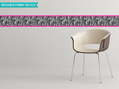 Sunny Decals Zebra Wall Border Fabric Wall Decal (Set of 2), 25