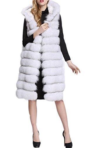 giubbotto faux ' Womens Foxcolour cappotto caldo pelliccia inverno FOLOBE wvUYq4n
