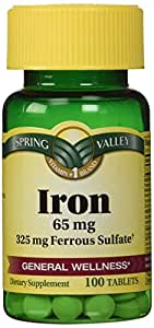 Iron 65 mg 325 mg ferrous sulfate