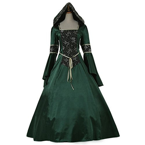 CosplayDiy Women's Medieval Hooded Fancy Dress Victorian Costume B CM (Plus Size Victorian Costumes)
