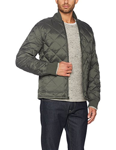 Verde Jacket Down Hombre Para Quilted Dockers olive 1 Chaqueta Rfqpqw