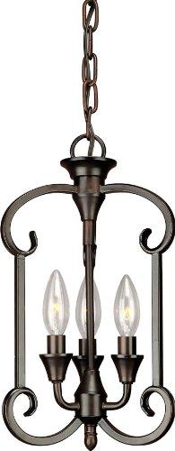 Kindri Metal Pendant Light Brushed Nickel Pendant Lighting for Kitchen Island LL-P202-1BN