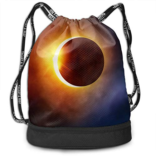 Swiming Travel Gym Beam Backpack Solar Eclipse 07 Florida Beam Backpack Basketball, Volleyball, Baseball Tote Cinch Sack For Boys Teens ()