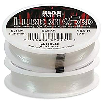 Beadsmith Illusion Monofilament Bead Cord .010 In 6 lb 164ft ILL.100L50