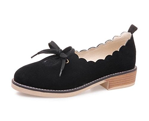 Womens Ballerina Ballet Dolly Pumps Ladies Loafers Boat Shoes Flats(Black 40/9 B(M) US Women) ()