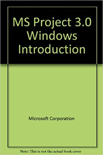 MS Project 3.0 Windows Introduction