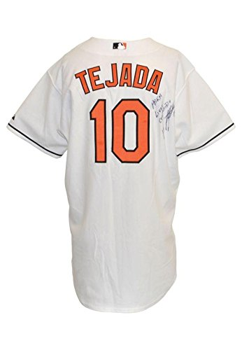 cfc0d238 Mid 2000's Miguel Tejada, Baltimore Orioles, Game Worn/Signed Home Jersey -  JSA