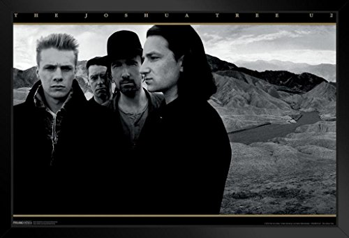 Pyramid America U2 The Joshua Tree Framed Poster 20x14 inch (Best U2 Albums Of All Time)