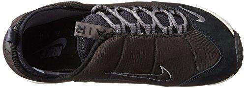 Nike Air Footscape Nm Mens Scarpe Da Corsa 852629 Nero / Grigio Scuro Vertice Bianco