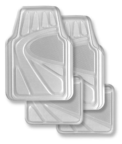 Kraco R5704CLR Premium Clear Vinyl Heavy-Duty Auto Floor Mat – 4 Piece
