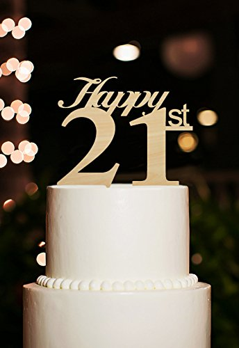 21st Wedding Anniversary.Amazon Com Happy 21st Wedding Anniversary Cake Toppers Rustic Happy