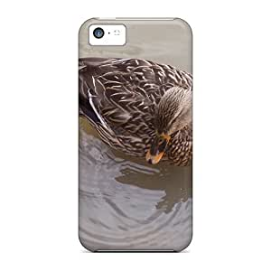 Awesome NDFqPyO6177FbbXA DaMMeke Defender Tpu Hard Case Cover For Iphone 5c- Duck Swimming In Stream
