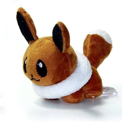 [12 CM, Mini Eevee Pokemon Figure Plush Doll] (Pokemon X And Y Ash Costume)
