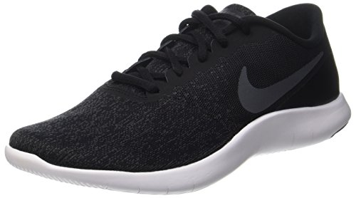NIKE Mens Flex Contact Shoes Black Dark Grey Anthracite White Size 8 by NIKE