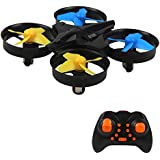 Mini Quadcopter with 6-Axis Gyroscope 2.4GHz Drone 3D Flip RC Stunt Drone Headless Mode Remote Control Helicopter One Key Return Toy Drone