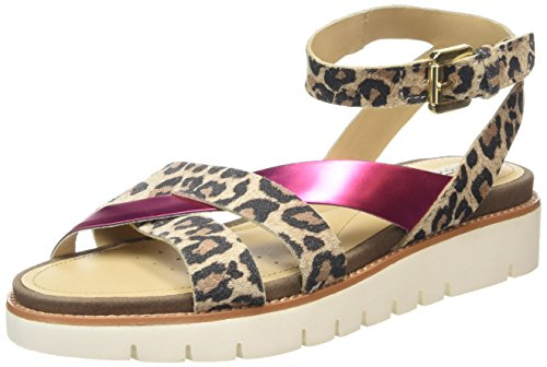 Geox Darline B, Women's Heels Sandals Beige (Ch67g)