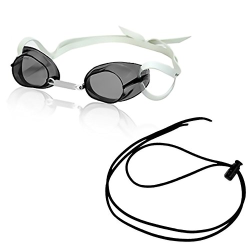 Rise Swedish Pro Mirrored Goggle w/Black Bungee (Smoke) (Bungee Goggles Swedish)